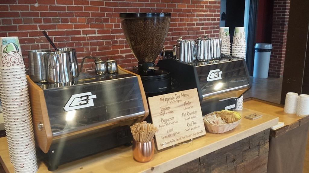Catering pictures la vita espresso for Coffee carts for office