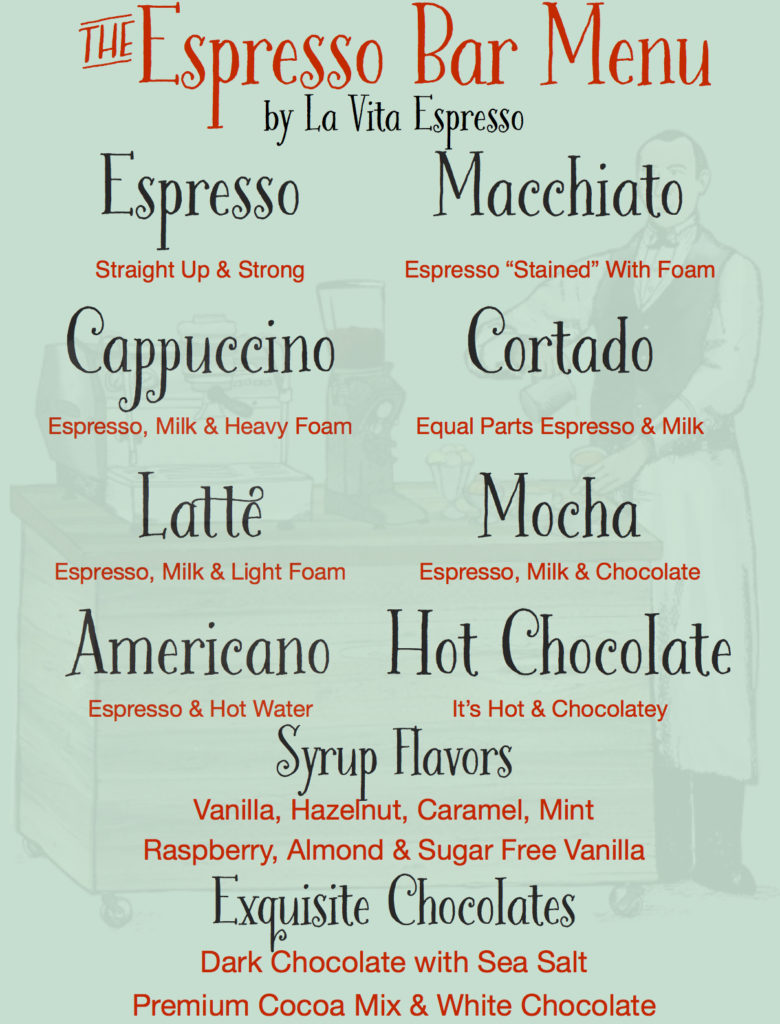 Chocolate Lovers Menu