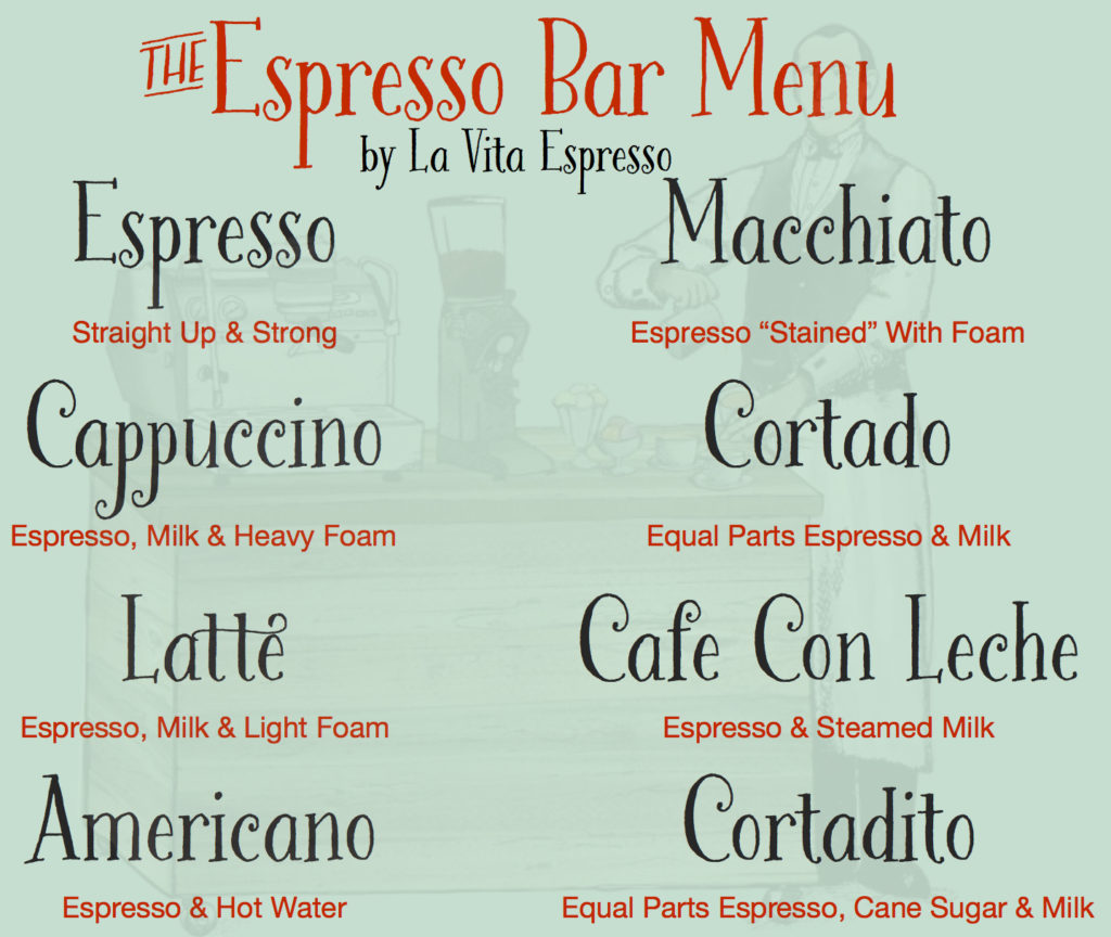 Coffee Lovers Menu
