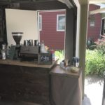Our coffee cart at a graduation party