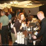 Serving gelato and coffee at a networking event