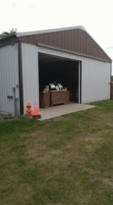 Our coffee cart at a Barn Wedding