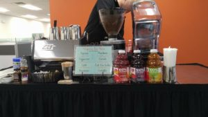 Our coffee cart along with our smoothies