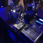 The barista view of our coffee cart at a wedding