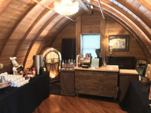 Our coffee cart upstairs at the Green Acres Event Center