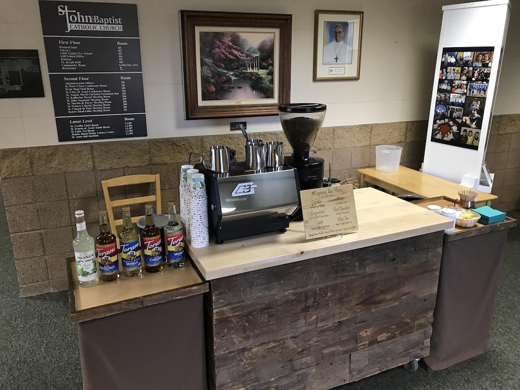 Teacher appreciation coffee cart la vita espresso for Coffee carts for office